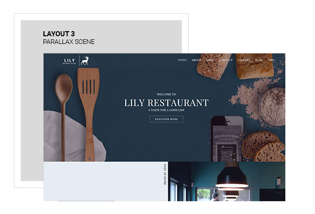 Lily | One Page Restaurant WordPress Theme - 3
