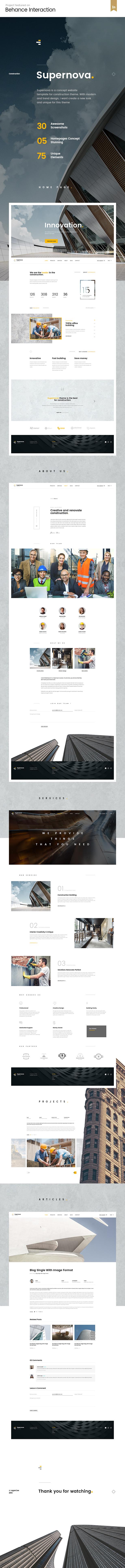 Supernova | Mutil-Concept Construction PSD Template - 4