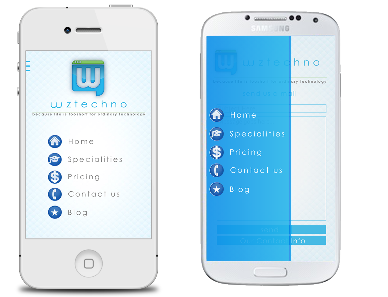 WzTechno Business Mobile AndroidiOS Template By Wztechno CodeCanyon - Mobile app design templates