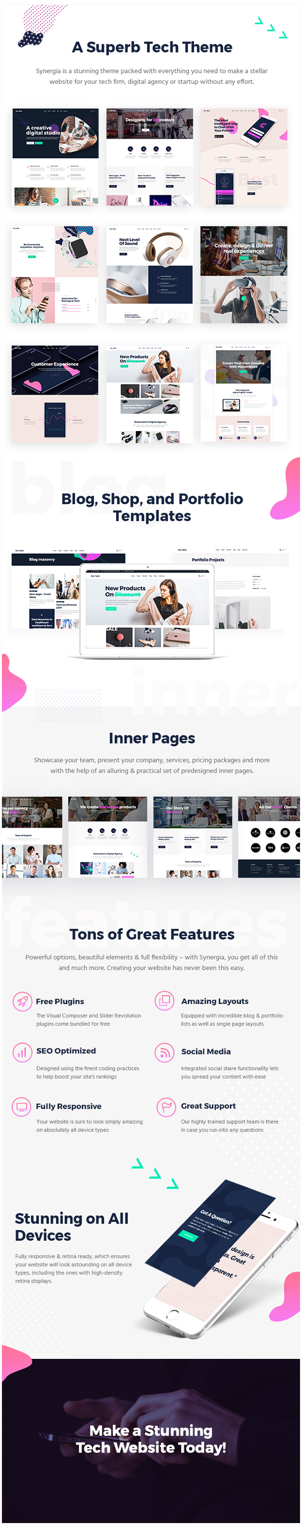 Synergia - Multi-Concept Theme for Digital Agencies and Startups - 1