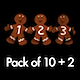 Gingerbread Dancers - Pack of 3 - 157
