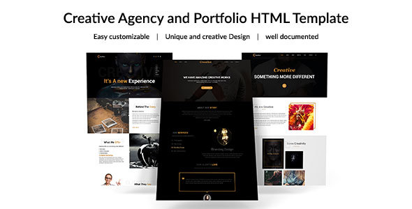 Creative Agency -  Corporate Business Template - Corporate Landing Pages