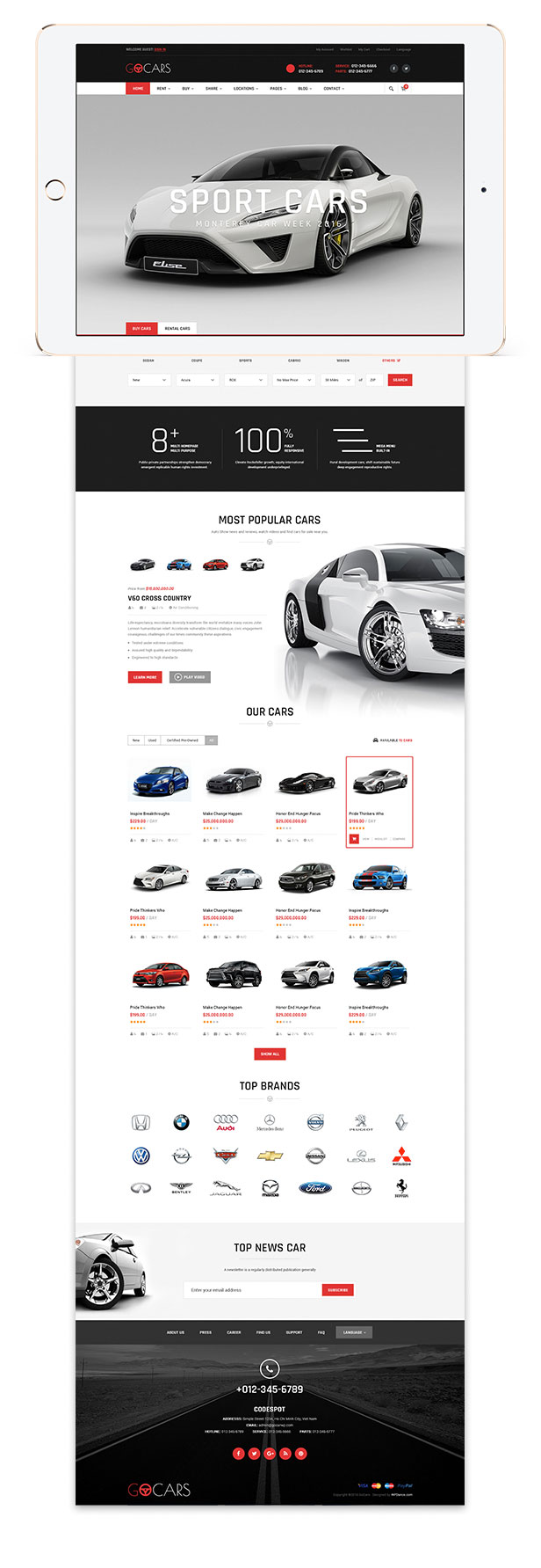 Go Cars Psd Template Design For Car Dealers Market By Tvlgiao
