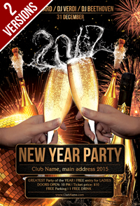 New Year Party Flyer Template - 20