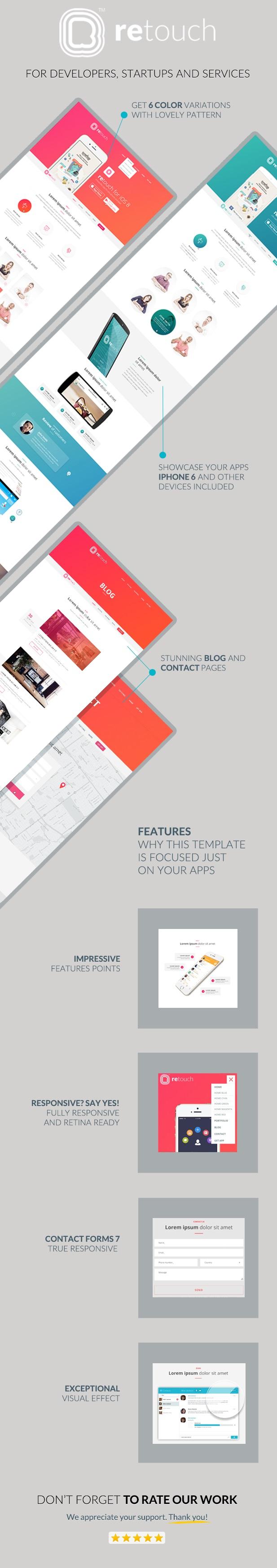 ReTouch - Mobile App MuraCMS theme - 1