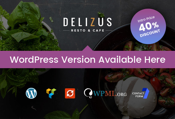 Delizus Restaurant Cafe WordPress Theme