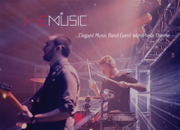 WeMusic - Music Band Event WordPress Theme