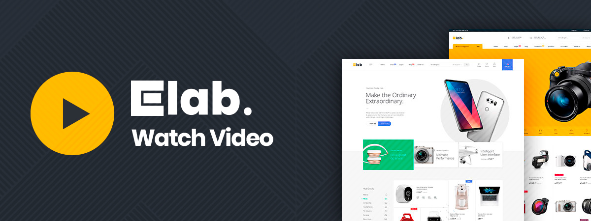 eLab Multi Vendor Marketplace WordPress Theme Video
