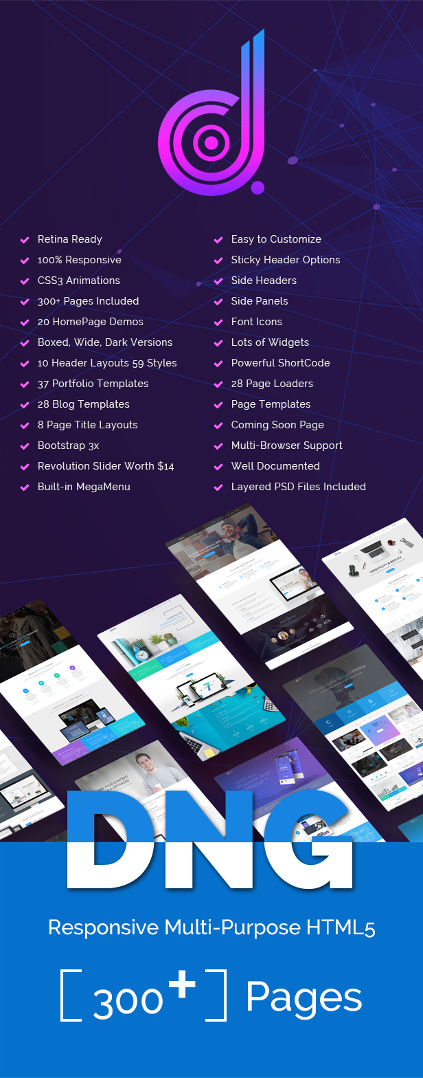 DNG - Responsive HTML5 Template - 1