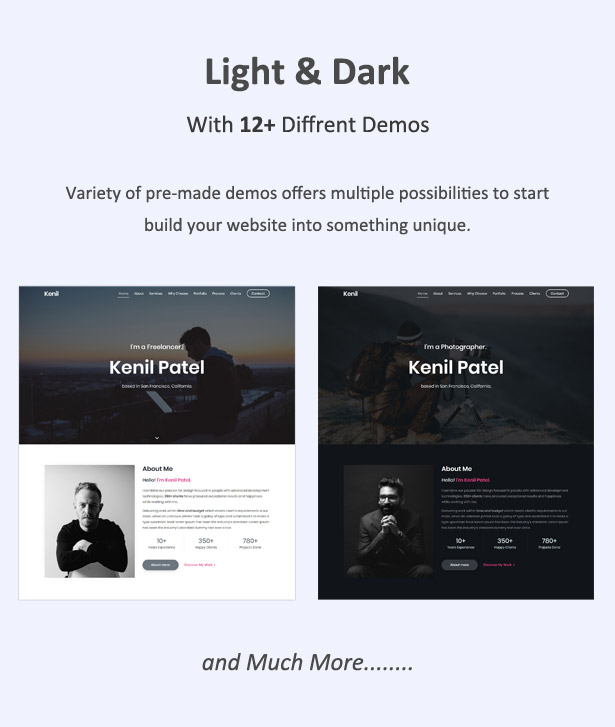 Responsive Bootstrap 4 One Page Portfolio Template