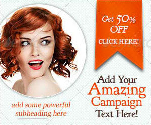 retro web banner design