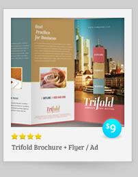 Rebellion Trifold Brochure - PSD Template - 9
