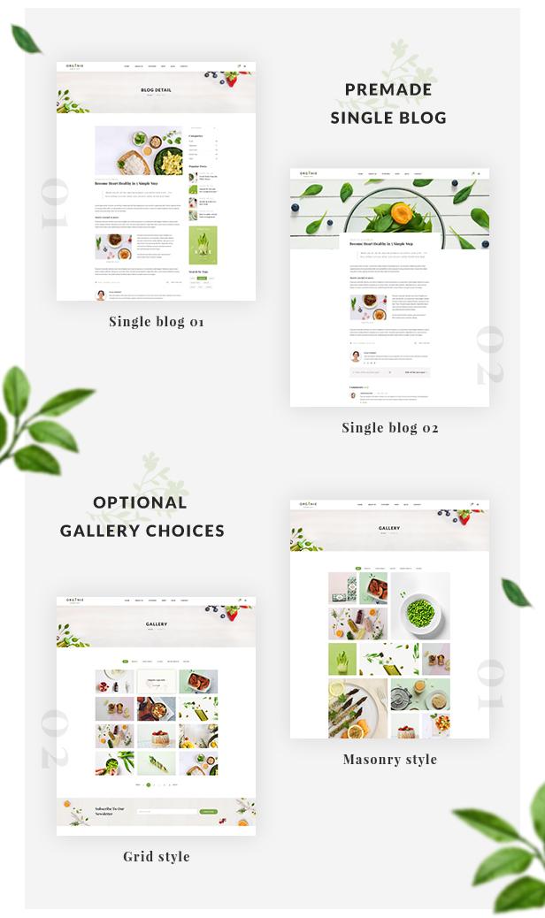 Organic Store WordPress theme - Premade single blog