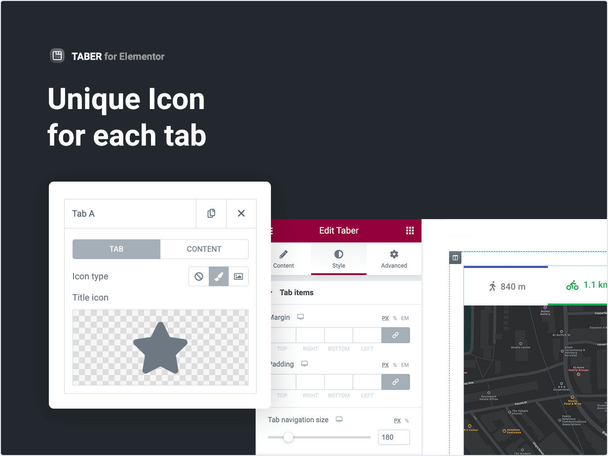 Unique Icon for each tab