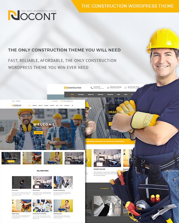 Nocont - Construction & Building WordPress Theme - 5
