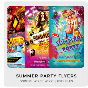 Abstract Party Flyers Bundle Vol1 - 4