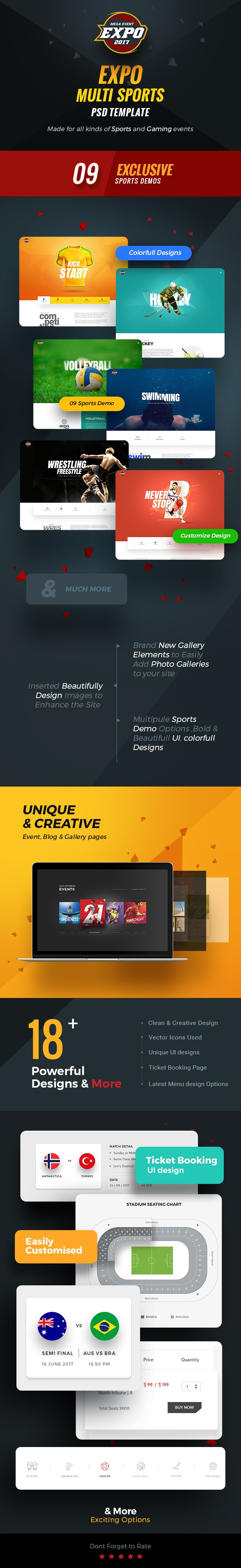 Expo - Multi Sports Event PSD Template - 1