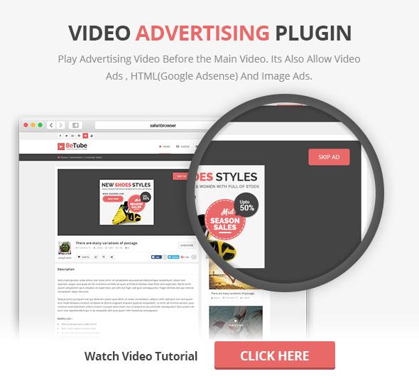 Plug-in de anúncios em vídeo