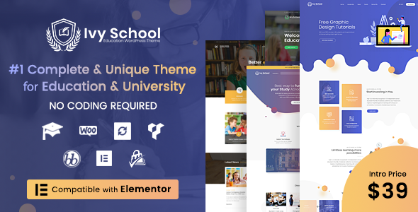 School WordPress Theme - Ivy
