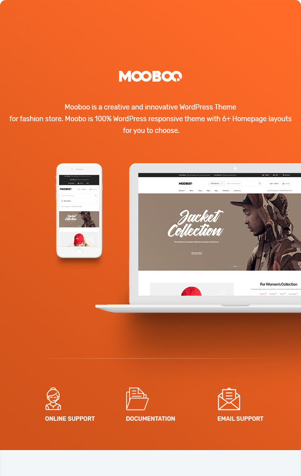 Mooboo v1.0.5-WooCommerce WordPress的时尚主题插图