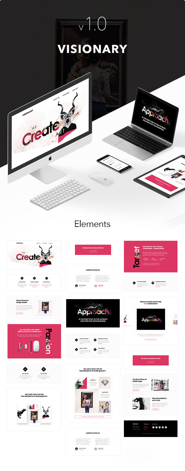 Visionary - Responsive Email + Themebuilder Access - 1