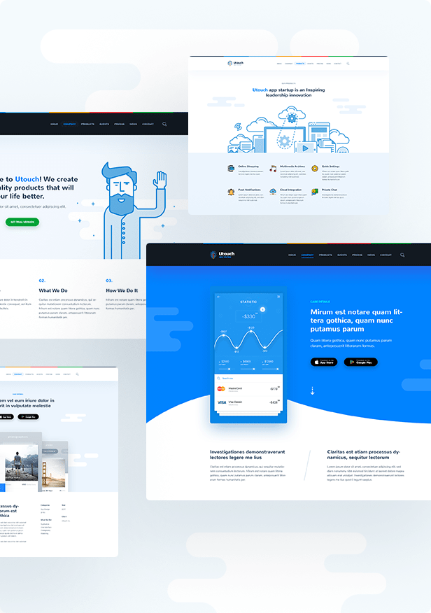 Utouch Startup - Multi-Purpose Business and Digital Technology WordPress Theme