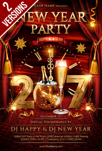 New Year Party Flyer Template - 16