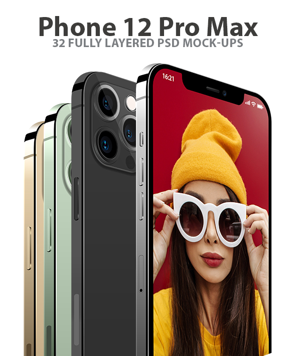 Phone 12 Pro Max for Element 3D and Cinema 4D - 1