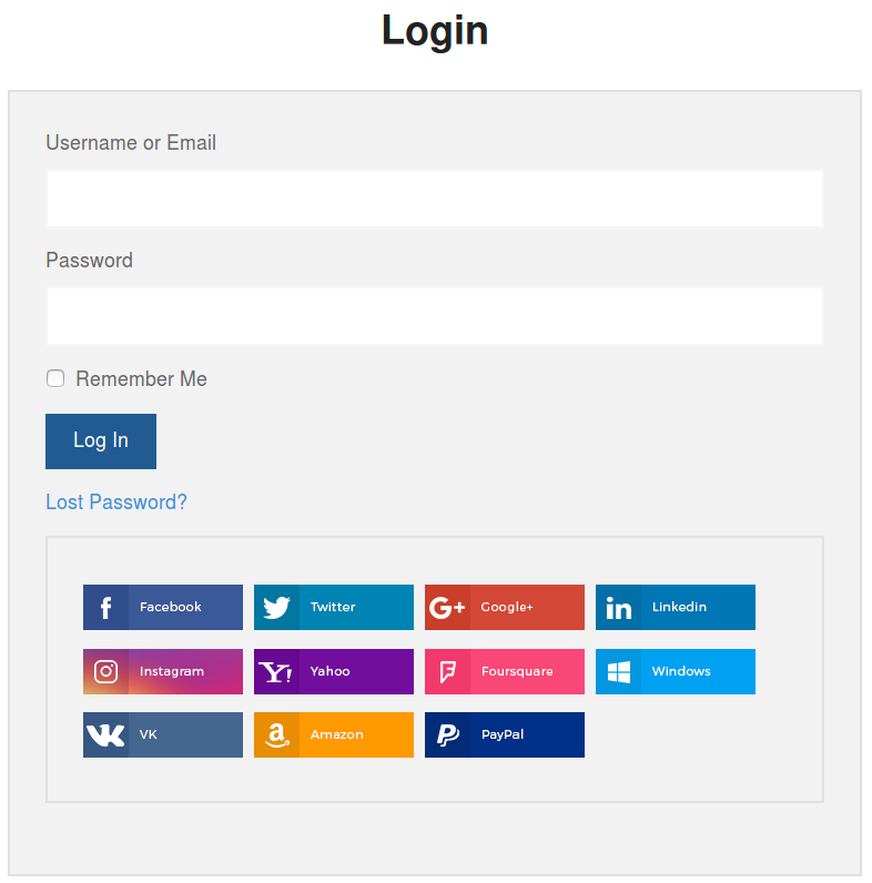 Link Social Accounts to User Accounts