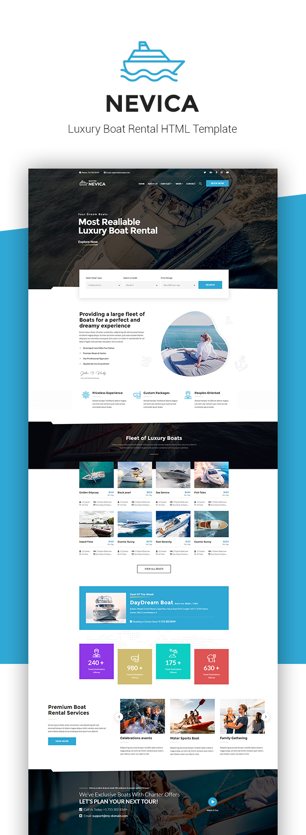 Nevica - Luxury Boats Rental HTML - 1