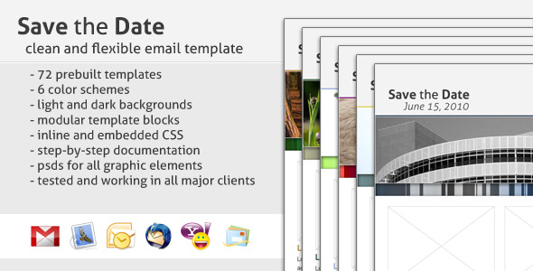 Save the date email template by creekjumper themeforest save the date flashek Choice Image