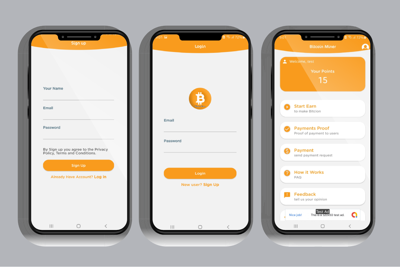 Bitcoin Miner App with Admin Panel and Admob - 3