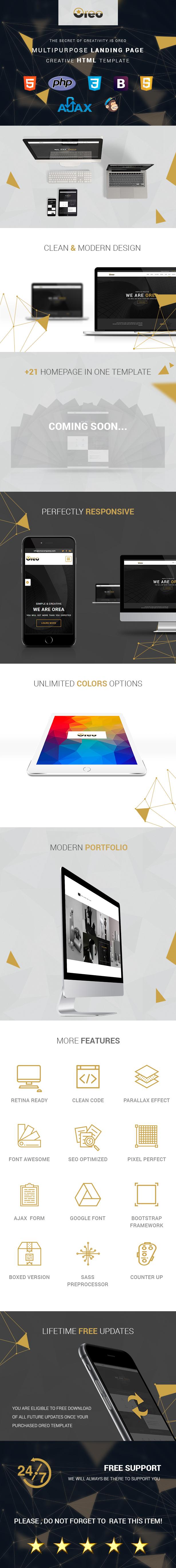 Oreo - Ultimate Creative Landing Page - 3