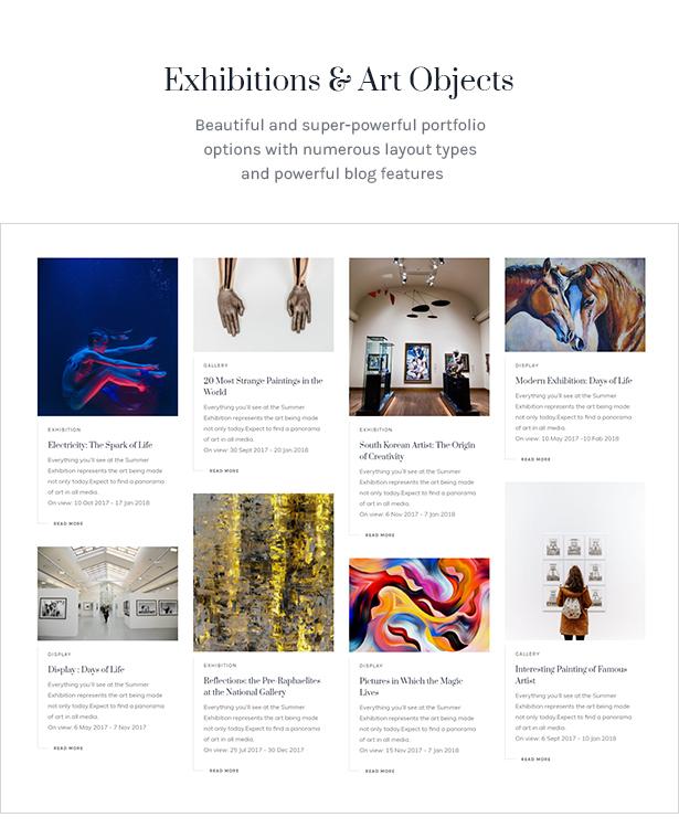 Galleria Metropolia - Art Museum & Exhibition Gallery Theme