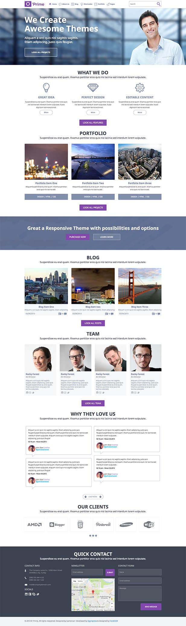 O'prime Multi Purpose Responsive HTML Template - 9