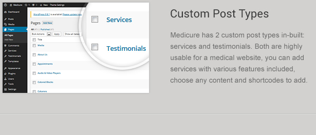 Custom Medical Post Types