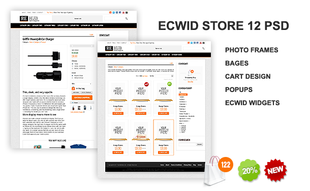 ecwid store psd