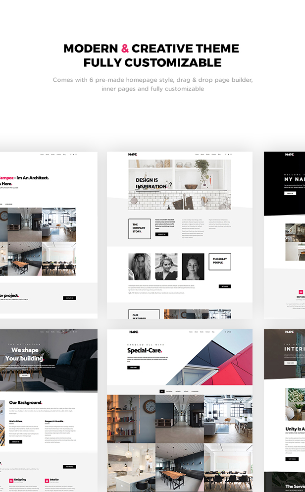 Hampoz - Responsive Interior Design & Architecture Theme by ridianur