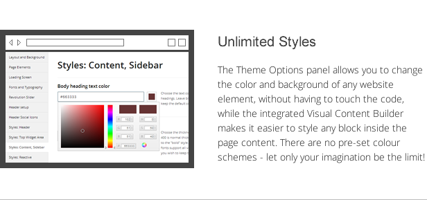 shogun features - unlimited styles