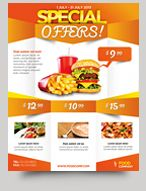 special offers product promotion flyer