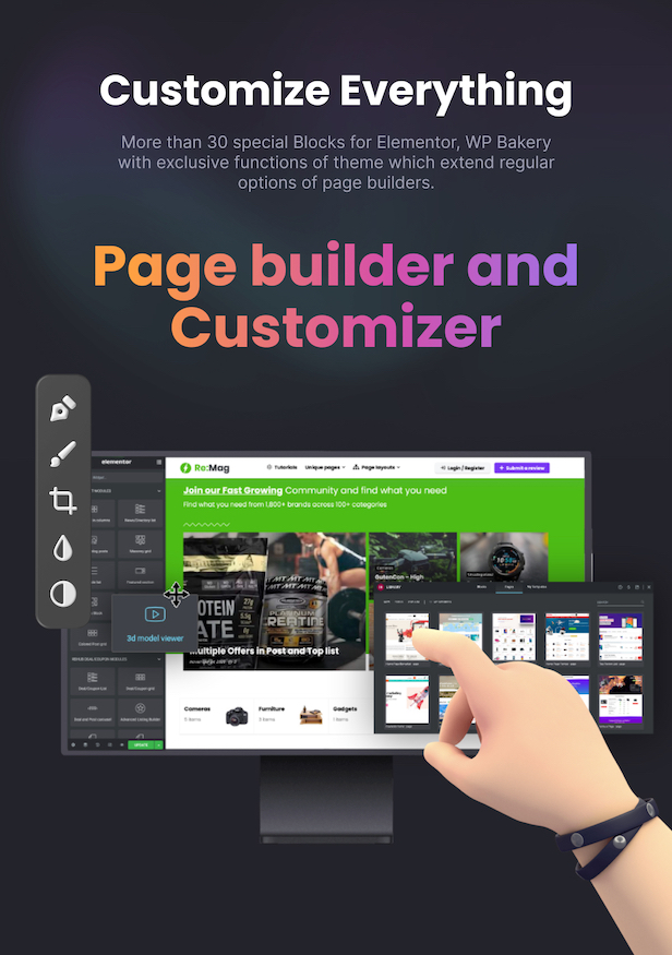 Best Marketplace theme for Elementor