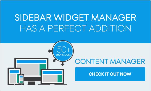 Sidebar & Widget Manager for WordPress - 4