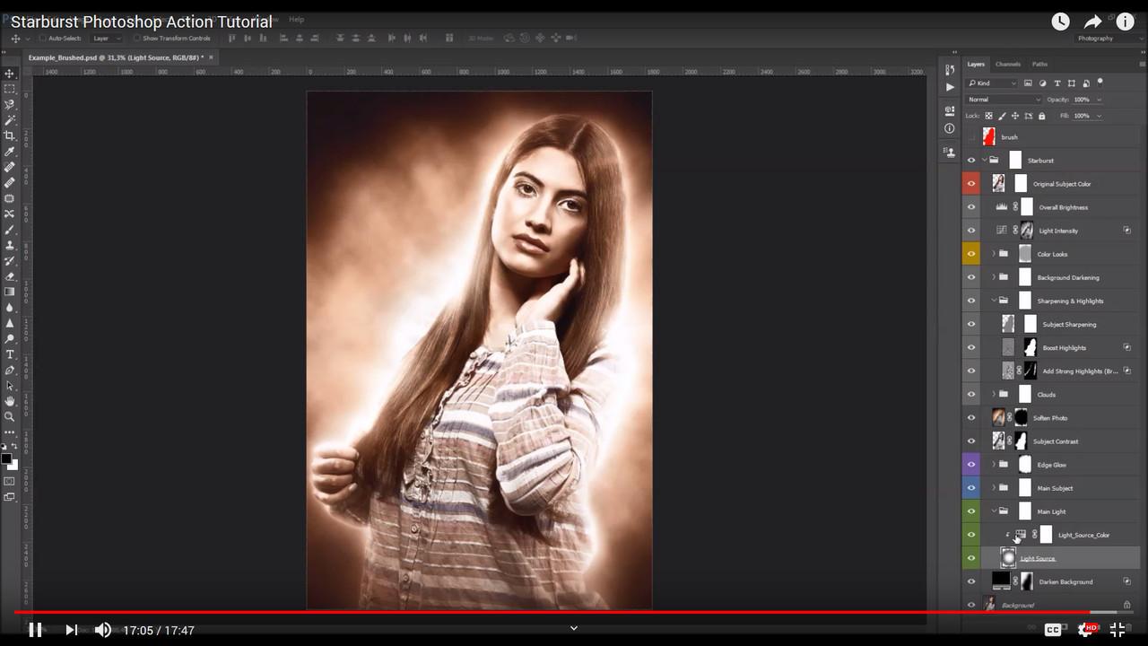 Starburst Photoshop Action - 3
