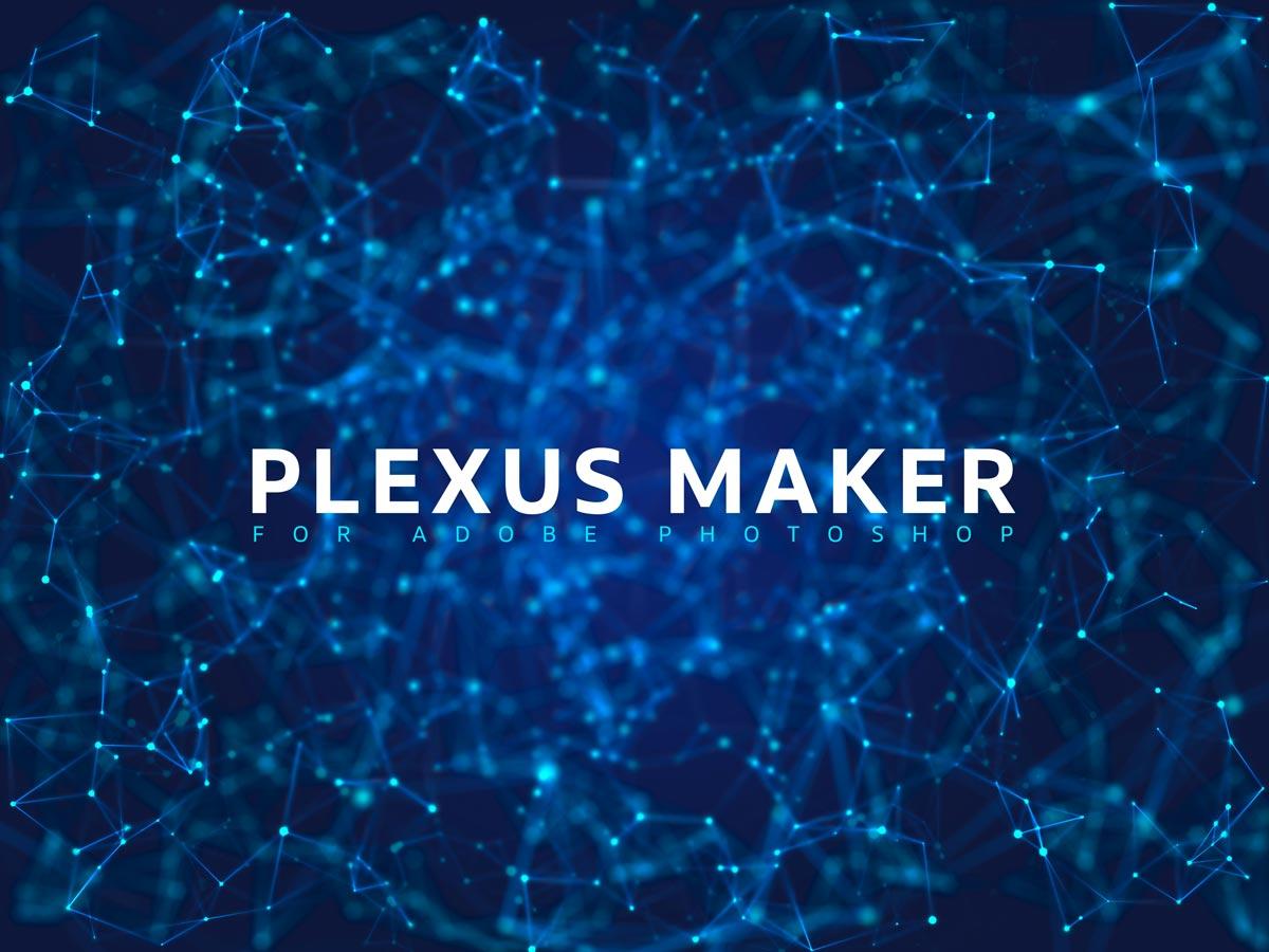 Plexus 3D background effect rendered with Plexus Maker plugin for Adobe Photoshop