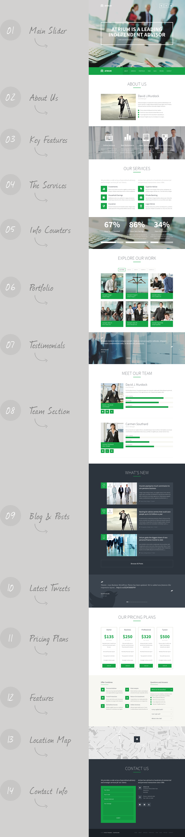 Atrium Finance Consulting Advisor Template By QuanticaLabs - About page template