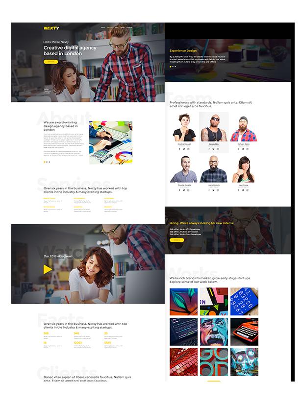Nexty - Creative Multipurpose Portfolio / Agency Responsive Muse Template - 2