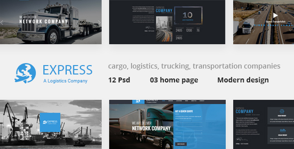 Express - Modern Transport & Logistics PSD Template