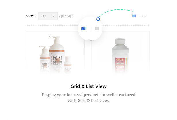 Medicare Pharmacies healthcare wordpress theme with grid & list view