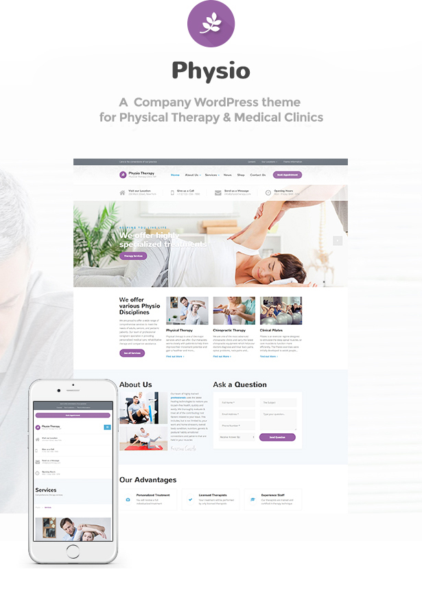 Physio Responsive WordPress Theme
