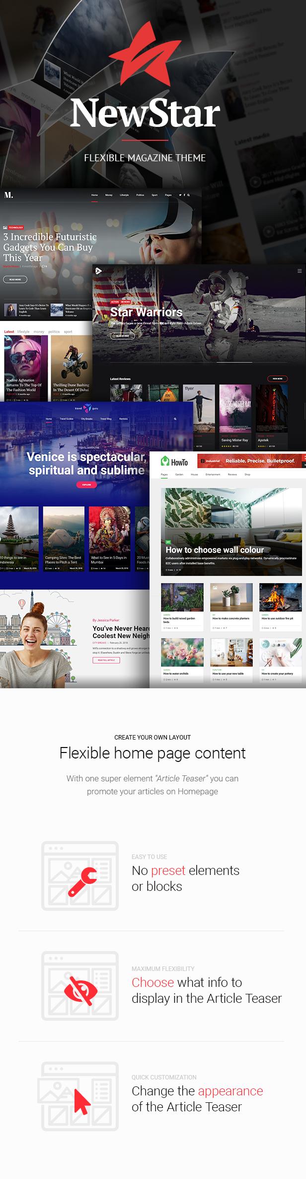 NewStar Magazine - Flexible Magazine Theme